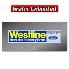 Dealership Decal, Westline Ford