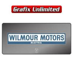 Dealership Decal, Wilmour Motors Maffra