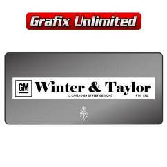 Dealership Decal, Winter & Taylor Geelong 1976 - 1980