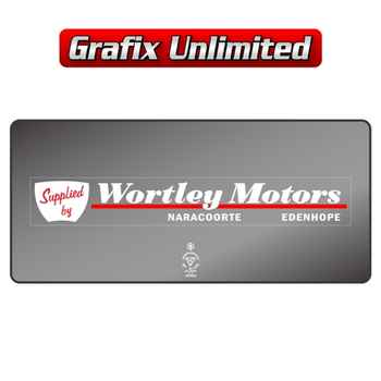 Dealership Decal, Wortley Motors