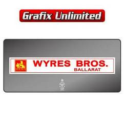 Dealership Decal, Wyres Bros Ballarat