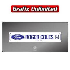 Dealership Decal, Roger Coles Gawler