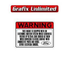 Electronic Ignition Warning Decal