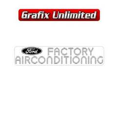 Factory Airconditioned Decal