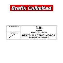 Fan Motor, Betts Electrical