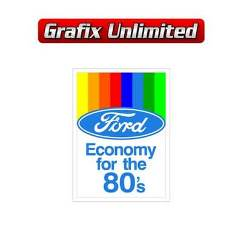 Ford Economy for the 80`s Rear Screen Decal