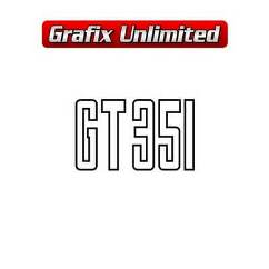 GT 351 Decal, Boot