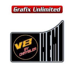 Hemi V8 By Chrysler LHS 1/4 Panel Decal