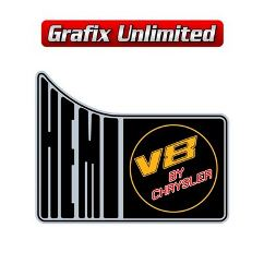 Hemi V8 By Chrysler RHS 1/4 Panel Decal