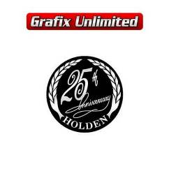 Holden 25th Anniversary Decal