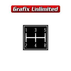 Console Gear Shift Pattern Plate LC LJ  , Five Speed