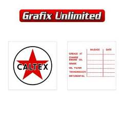 Lube Decal, Caltex