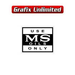 MS Oils Decal Black