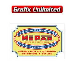 Mopar Parts and Accessories Decal