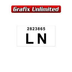 Part Label, LN 2823865  XU1