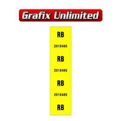 Part Label, Rear Coil Spring RB 2818486