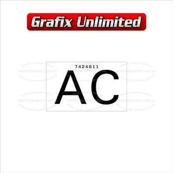 Part Label, Radiator AC 7424611