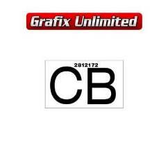 Part Label, Radiator CB 2812172