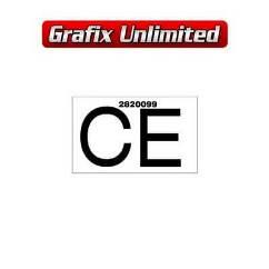 Part Label, Radiator CE 2820099