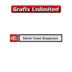 RTS Radial Tuned Suspension Decal 1976 - 1978
