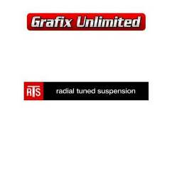 RTS Radial Tuned Suspension Decal 1978 - 1992