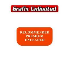 Recommended Premium Unleaded Fuel Decal VR, VZ