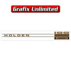 Rocker Cover Decal, 186S Gold