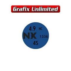 Rocker Cover Decal, 4.9 NX