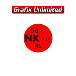 Rocker Cover Decal, 5.8 NX