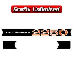 Rocker Cover Decal Set, 2250 Low Compression