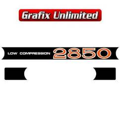 Rocker Cover Decal Set, 2850 Low Compression