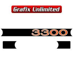 Rocker Cover Decal Set, 3300 Red