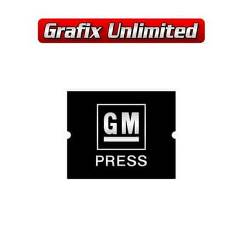 Seat Belt Decal, GM Press Embossed