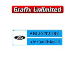 Selectaire Airconditioned Decal