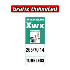 Spare Tyre Decal Michelin Xwx 205/70 14