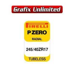 Spare Tyre Decal, Pirelli P Zero