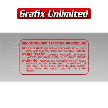 Start Instructions Decal 1978 - 1982