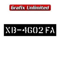 Stencil, Tailshaft XB GT Manual