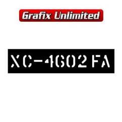 Stencil, Tailshaft XC 351 Manual