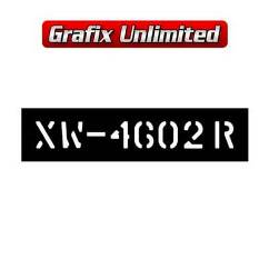 Stencil, Tailshaft XW GTHO 69