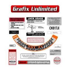 Sticker Kit, XA GT Engine Bay