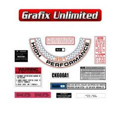Sticker Kit, XW GT Cleveland Engine Bay