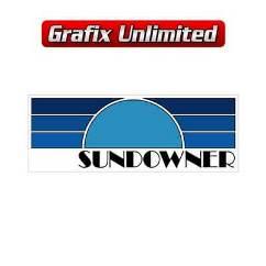 Sundowner Gaurd Decal, Blue