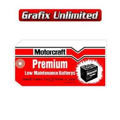 Tag, Motorcraft Battery