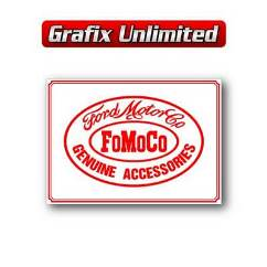 Tin Sign, FoMoCo Accessories White