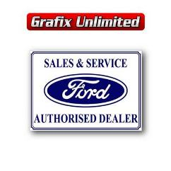Tin Sign, Ford Sales & Service