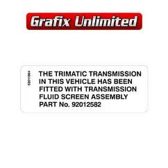 Trimatic Transmission Decal