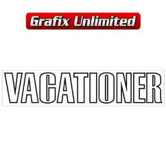 Vacationer Guard Decal, Black