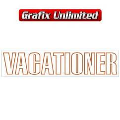 Vacationer Guard Decal, Light Brown