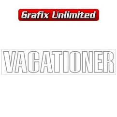 Vacationer Guard Decal, Silver